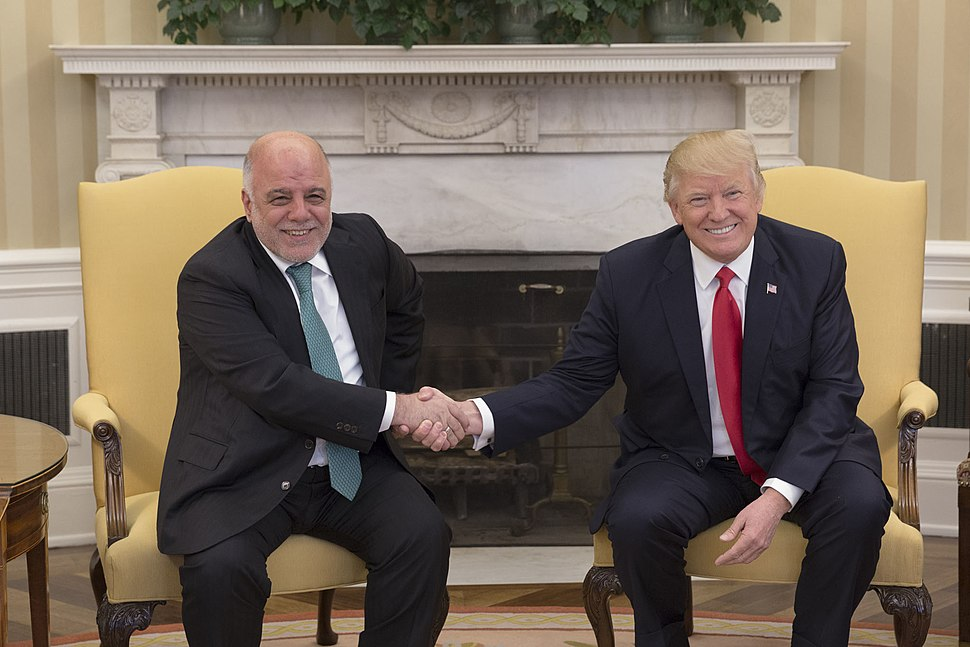 Haider al-Abadi and Donald Trump in the Oval Office, March 2017