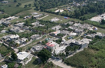 English: Overflight of Leogane, Haiti followin...