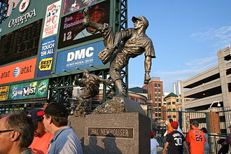 Hal Newhouser - A statue of Newhouser in Comerica Park