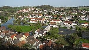 Harburg, Bavaria - Image: Harburg Stadtansicht von der Burg 02