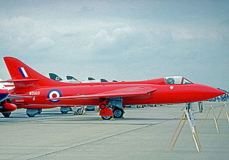 Hawker Hunter - The prototype Hunter WB188, modified to Mark 3 standard, displayed in its world speed record colours in 1976