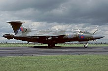 A Hawker Siddeley Buccaneer S2B of No. 12 Squadron.