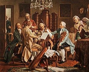 Joseph Haydn Playing Quartets (Source: Wikimedia)