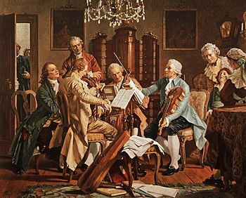 Joseph Haydn Playing Quartets (Source: Wikimedia)