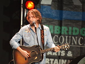 Hayes Carll - Carll at a festival in Cambridge, England August, 2009  Photo: Sean Rowe