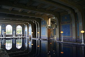 The indoor pool at Hearst Castle in San Simeon...