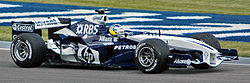 Heidfeld (Williams) in practice at USGP 2005.jpg