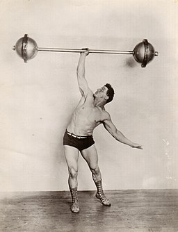 "Heinrich ""Milo"" Steinborn lifting weights"