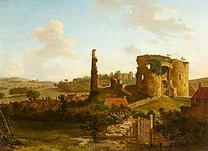 Neath Castle - Image: Hendrik Frans de Cort The Gnoll and Castle, Neath