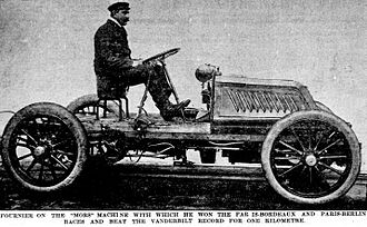 "Mors (automobile) - Henri Fournier on the ""Mors Machine"", 1902"