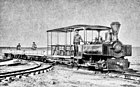 Henri Menier's Decauville locomotive N° 416 of 1904 on Anticosti Island in Quebec.jpg