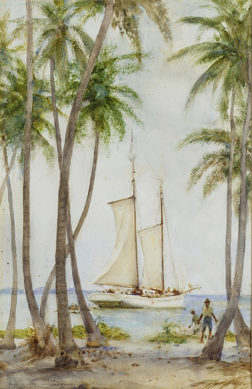 Henry Scott Tuke - Tobacco Caye. Brit. Honduras