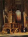 Henry Thomas Schäfer Inneres der St-Lorenz-Kirche Nürnberg mit Sakramentshaus.jpg