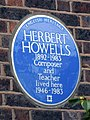 Herbert Howells 1892-1983 Composer and Teacher lived here 1946-1983 - 2.jpg