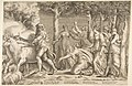 Hercules driving off the cattle of Geryon, at the right are the nymphs of Hesperides MET DP812774.jpg