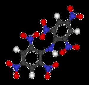 Hexanitrodiphenylamine - Image: Hexanitrodiphenylami ne 3D balls