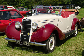 Hillman 20 - Hawk sports tourer body by Martin Walter manufactured 1936