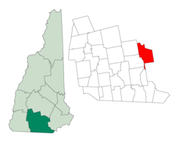 Location in Hillsborough Coonty, New Hampshire