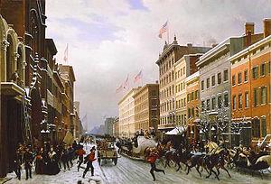 Hippolyte Sebron - Rue De New-York En 1840