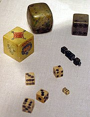 A collection of historical dice from Asia