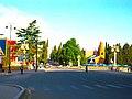 Historical street on the bridge in city of Ganja Azerbaijan.jpg