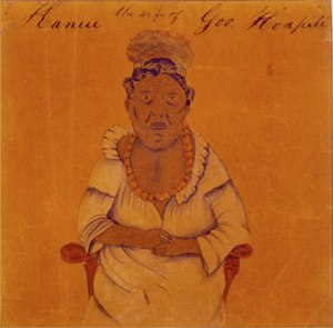 Kalākua Kaheiheimālie - Hoapili Wahine, watercolor by Mrs. Clarissa Chapman Armstrong