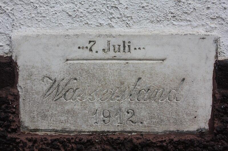 File:Hochwassermarke Schwaebisch Gmuend 1912.jpg