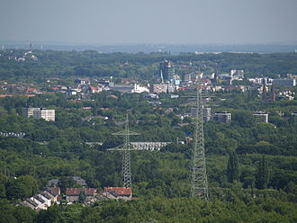 Herne, North Rhine-Westphalia - View towards the center of Herne