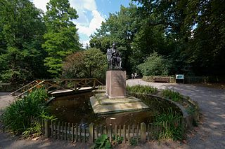 Holland Park district of London