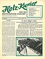 Holzkurier Cover 1974