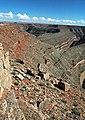 Honaker Trail Formation over Paradox Formation (Pennsylvanian; Goosenecks of the San Juan River, Utah, USA) 6 (49103736132).jpg