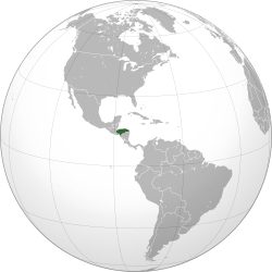 Location of Honduras