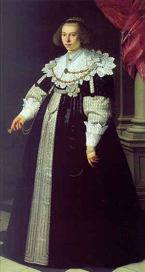Catharina Hooft - The 18-year-old Catharina Hooft, second wife of Cornelis de Graeff, by Nicolaes Eliasz. Pickenoy in the Gemäldegalerie Berlin