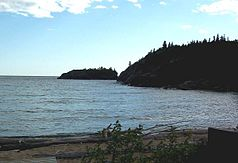 Horseshoe Bay am Lake Superior im Park