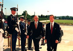 William Cohen - Cohen and Australian Prime Minister John Howard at The Pentagon, June 27, 1997