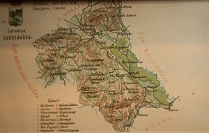 Zagreb County (former) - Old map of Zagreb County
