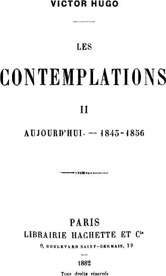 Les Contemplations - Image: Hugo Contemplations
