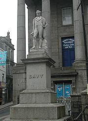 Statue of Davy in Penzance, Cornwall