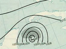 Hurricane Hattie analysis 31 Oct 1961.png