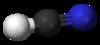 Pilko- kaj bastonmodelo de hidrogena cianido