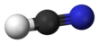 Ball and stick model of hydrogen cyanide