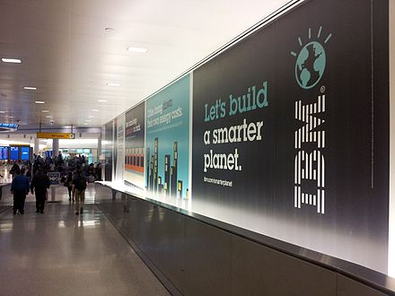 IBM ads at John F. Kennedy International Airport, 2013 IBM ads at JFK.jpg