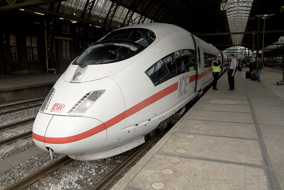 ICE train at Amsterdam Centraal station