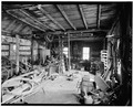 INTERIOR, LOOKING SOUTHWEST - Baker-Booth Blacksmith Shop, Lear Hill Road, West of Route 10, Goshen, Sullivan County, NH HABS NH,10-GOSH,2-5.tif