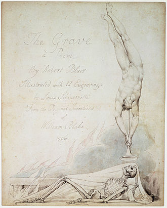 The Grave (poem) - Title page of Cromek's 1808 publication of The Grave with Blake's drawing engraved by Schiavonetti