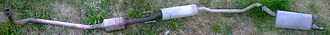 Exhaust system - Exhaust system of the Opel Corsa B 1.2 petrol