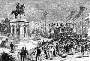 Inauguration de la statue de Charlemagne à Liège