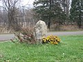 Indiana-Michigan boundary stone northwest of South Bend.jpg