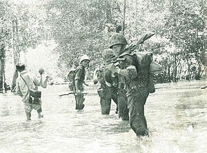 Indonesian Marine Corps - Indonesian marine corps battling Permesta insurgents, 1950–1960s