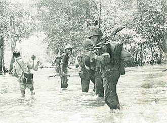 Indonesian Marine Corps - Indonesian marine corps battling Permesta insurgents, 1950–1960s